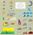 Infographics charts vector image