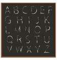 Chalk hand drawing alphabet vector image