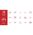 15 rest icons vector image vector image
