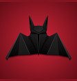 3d of origami bat on red background halloween the vector image