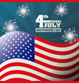 4th july independence day celebration patriotism vector image