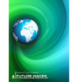 Abtract waves background for brochures and flyers vector image vector image