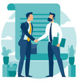 agreement with a handshake vector image vector image