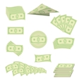 American Banknotes Cash Money US Currency vector image
