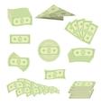 American Banknotes Cash Money US Currency vector image vector image