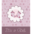 arrival baby card vector image