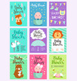 baby shower design card cute woodland vector image