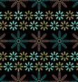 Background of abstract flowers vector image vector image