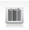 barcode single icon vector image vector image