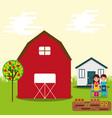 boy and girl gardeners vector image vector image