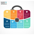 briefcase infographic Template for bag vector image vector image
