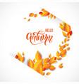 bright leaves decor vector image