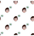businessman dreaming about money icon in cartoon vector image