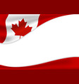 canada day banner background design flag vector image vector image