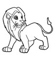 cartoon cute lion coloring page vector image