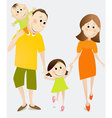 Cartoon happy family vector image