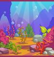 cartoon underwater background vector image vector image