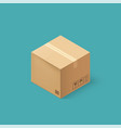 closed cardboard box taped up and isolated on a vector image