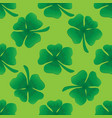 clover seamless pattern vector image vector image