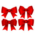 collection red shiny bows for design isolated vector image vector image