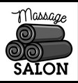 color vintage massage salon emblem vector image
