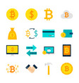 currency bitcoin objects vector image vector image