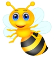 Cute bee cartoon vector image vector image
