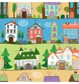 Cute houses castles and establishments design vector image vector image