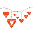Decorative heart designs vector image vector image