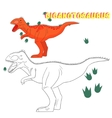 Educational game coloring book dinosaur vector image