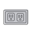 energy socket isolated icon vector image