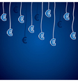 euro currency symbol vector image vector image
