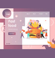fast food website landing page design vector image vector image