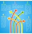 Five bright different way infographics vector image