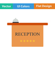 Flat design icon of reception desk vector image vector image