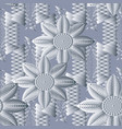 floral seamless pattern light geometric vector image