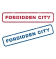 Forbidden City Rubber Stamps vector image vector image