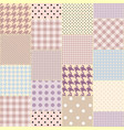 geometric patchwork pattern of a squares vector image vector image