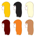 hairstyl vector image vector image