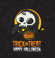Halloween Trick or Treat Death Costume vector image vector image