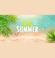 hello summer banner templatetop view sea vector image