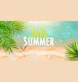 hello summer banner templatetop view sea vector image