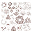Henna tattoo doodle elements on white background vector image vector image