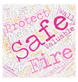 How well are your valuables protected from fire vector image vector image