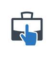 job choice icon vector image vector image