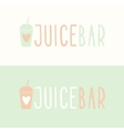 Juice bar logotypes vector image vector image