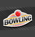 logo for bowling sport vector image