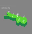 map finland isometric concept vector image vector image
