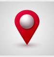 map location pointer 3d pin with glowing glass vector image