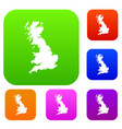 map of great britain set collection vector image vector image
